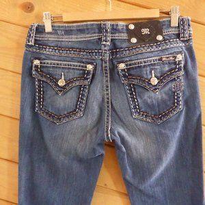 Miss Me Signature Rise Boot Jeans Flap Pocket 30